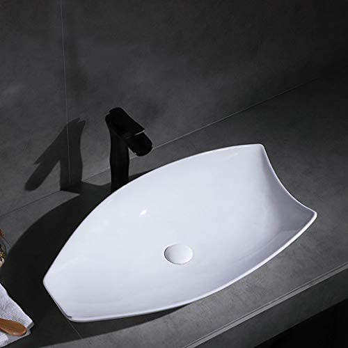 DS- バスルームの洗面化粧台、カウンター上記セラミックシンク盆地ホームホテルアート(タップなし)シングル盆地、71X38X13.5cm 洗面ボール && (Size : 71X38X13.5cm)