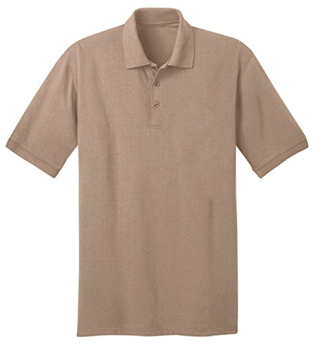 Port & Company Men's Big And Tall Knit Polo Jersey 3X Tall- (Placket Jersey)