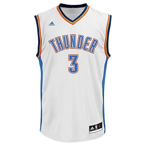 NBA Men's Oklahoma City Thunder Sabonis Replica Player Road Jersey, Medium, White