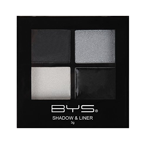 BYS Eyeshadow and Creamy Liner Palette With Applicators, Raven Nights