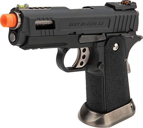 - Evike WE-Tech Hi-Capa 3.8 Velociraptor Airsoft Gas Blowback Pistol (Color: Black)