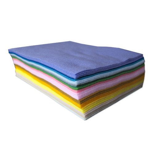 Felt Pastels - Pastel Acrylic Craft Felt: 50 Sheets, Assorted