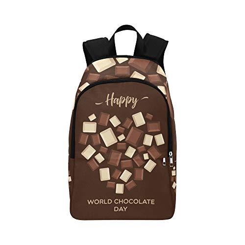 Backpack Shoulder Bag Blocks of Chocolate 13 July for Men Women Teachers Bookbag School Bag Stability University Outdoor for Traveler