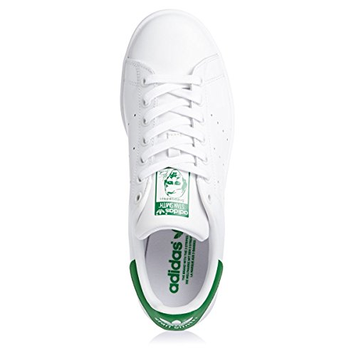 Adidas Chaussures Unisexe Baskets Basses M20324 Stan Smith Blanc Vert