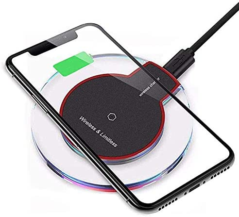 2019 Upgraded Wireless Charger, Qi-Certified Fast Wireless Charging Pad 7.5W for Phone Xs Max Xs XR X 8 8 Plus Qi-Enabled Phones No AC Adapter 04
