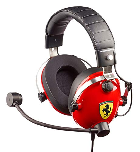 🥇 T.Racing Scuderia Ferrari Edition – Auriculares multiplataforma para Juegos inspirados en Las verdaderas paddocks de Ferrari Scuderia's
