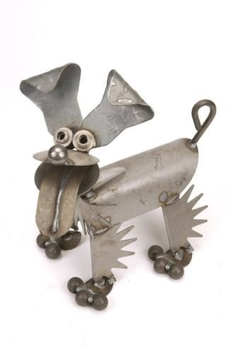 Yardbirds Junkyard Metal Animal Happy Puppy Dog (Happy Junkyard Puppy)