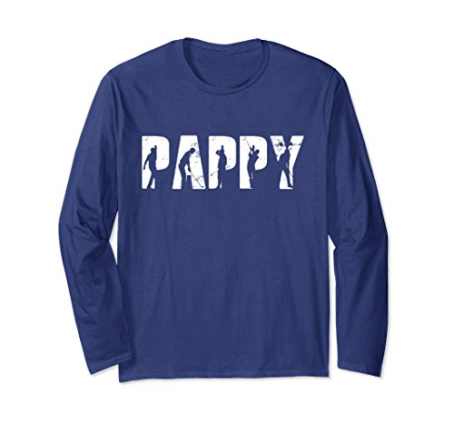 Unisex Golf Pappy long sleeve t-shirt For Men, Gifts For Father Day Large Navy