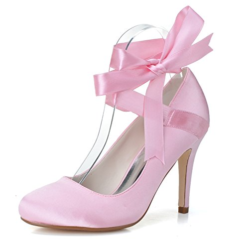 Satin Hochzeit Prom Temperament Schuhe High Mode Party Schuhe Schuhe Heels Schuhe Qingchunhuangtang Bandagen 6FqgfA