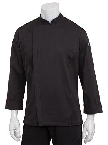 Chef Works Men's Hartford Chef Coat, Black, Large by Chef Works