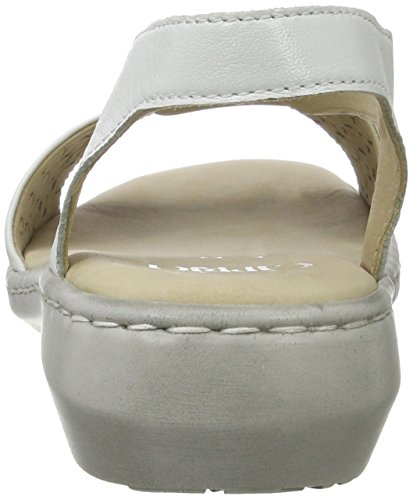 Con Bianco white Caprice Zeppa Donna 28603 Sandali Nappa CFxwxfqa