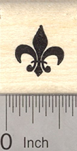 Lis Blocks Fleur De - Fleur De Lis Rubber Stamp, French Iris Flower, Symbol of France, Small