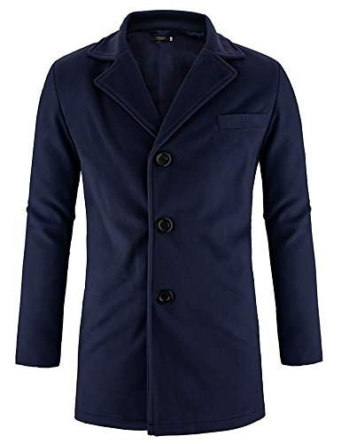 Hasuit Men's Single Breasted Notched Lapel Coat by Hasuit (Image #1)