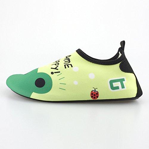SENFI Jungen Mädchen Wasser Schuhe Mutifunctional Barfuß Quick Dry Aqua Schuhe Für Strand Pool Übung (Kleinkind / Little Kid / Big Kid) 033grün