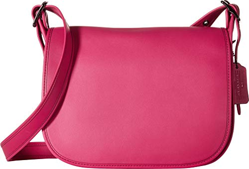 COACH Women's Glovetanned Leather Saddle Bag Dk/Cerise One ()