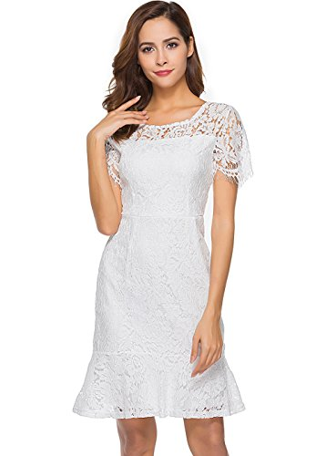 fitted a line lace wedding dress - 9