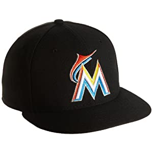 MLB Miami Marlins Home AC On Field 59Fifty Fitted Cap-734