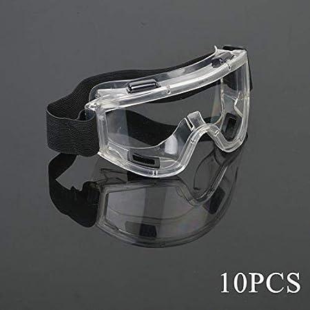 Gafas Seguridad Antiniebla Transparentes Protección Contra El Polvo Líquido Antiarañazos Seguridad Transparentes Prueba Arena Viento Para Construcción Laboratorio, Química Uso Personal 10pcs