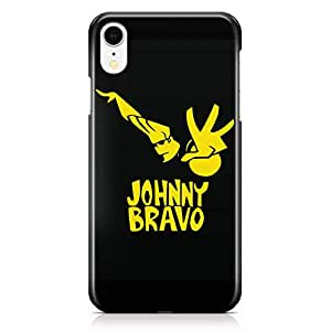 Loud Universe Johny Bravo Yellow iPhone XR Case Black and Yellow iPhone XR Cover with 3d Wrap around Edges