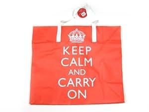 "Jumbo ""Keep Calm & And Carry On"" Laundry Shopping Bag"