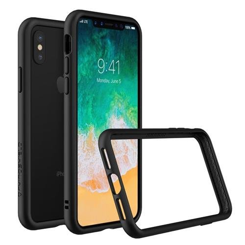 new concept 55c06 f4127 RhinoShield Bumper Case for iPhone XS / X [CrashGuard] | Shock Absorbent  Slim Design Protective Cover [3.5M/11ft Drop Protection] - Black