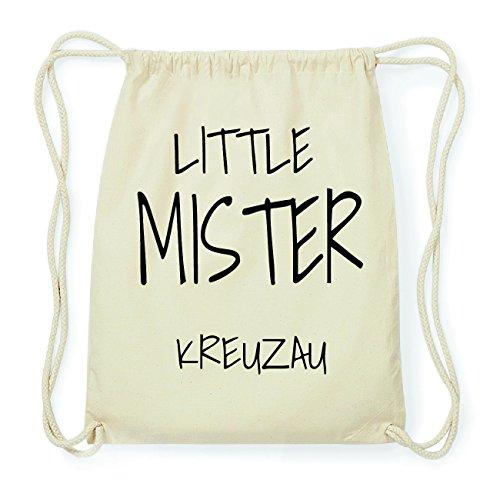 JOllify KREUZAU Hipster Turnbeutel Tasche Rucksack aus Baumwolle - Farbe: natur Design: Little Mister 44GXg3c9I