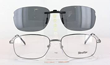 6b134f2e4c Amazon.com  SFEROFLEX 2086-56X17 POLARIZED CLIP-ON SUNGLASSES (Frame ...