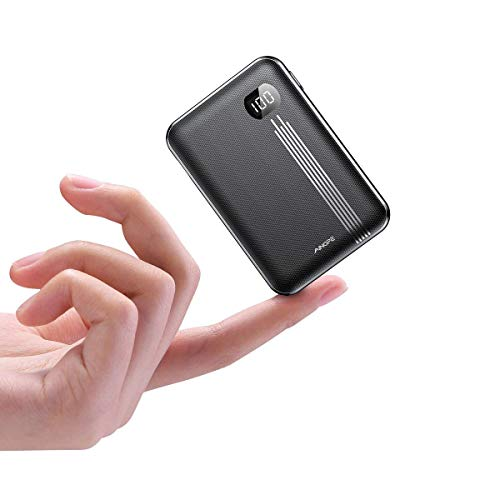 Portable Charger 10000mAh, AINOPE Smaller Size with LCD Display, High-Speed 2 USB Outputs Power Bank/External Battery Pack/Battery Charger/Phone Backup, Perfect for Travel