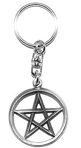 Cerrado Pentagram pentáculo wiccano paganas Llavero