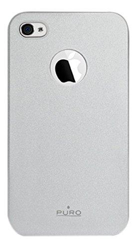 Puro - Silicon Case / Schutzhülle mit Displayschutzfolie für Apple iPhone 4, 4S - Silber (Soft)