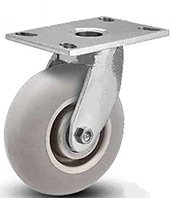 "Colson Heavy-Duty 6"" Swivel Caster with Round Tread Performa Rubber Wheel"