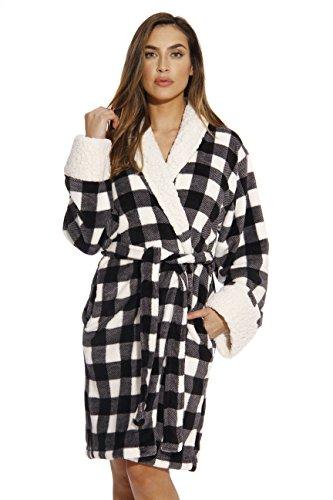 (Just Love Kimono Robe Bath Robes for Women 6343-10193-3X White/Black)