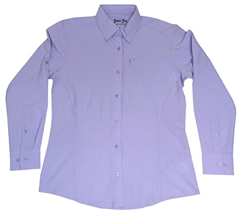 Clearwater Bay - Bimini Bay Outfitters Clearwater Long Sleeve Women's Shirt (Lavender, Large)