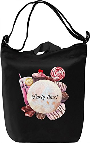 Party time Borsa Giornaliera Canvas Canvas Day Bag| 100% Premium Cotton Canvas| DTG Printing|