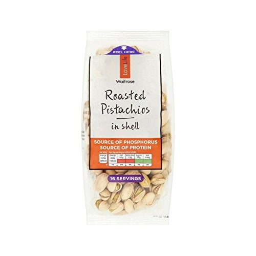 Roasted Pistachio Nuts Waitrose Love Life 400g - Pack of 6