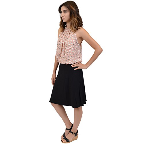 Stretch is Comfort Women's A-Line Skirt Black Large by Stretch is Comfort (Image #2)