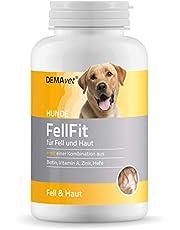 DEMAvet Complemento alimenticio FellFit para Piel, Pelo y Garras para Perros. Desarrollado por Veterinarios. Biotina, metionina, Zinc, ácido silícico, levadura 120 Pastillas