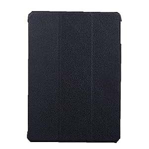 Caja del cuero del patrón de Lychee rotación de 360 ??grados de la PU para el iPad Aire , Azul