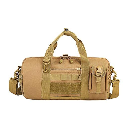 Mefly Gran capacidad de bolsos, bolsos para hombres, gran capacidad, bolsas de viaje, impermeable, Bolsos para hombres, Exterior tácticas militares, aficionados,Lobo,marrón Tamaño especial
