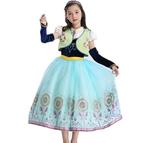 (Girls Princess Anna Dress Halloween Costume Party)