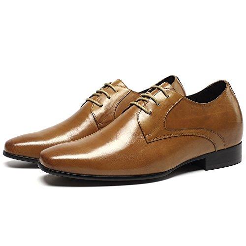 CHAMARIPA 7cm Plus grand Chaussure à Talonnette Grandissante Lacet Oxfords Rehaussante Soulier Soulier