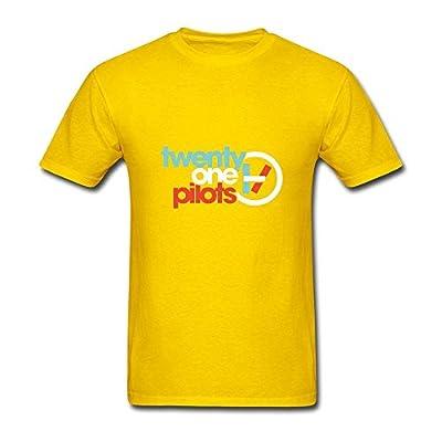 Men's YZ American Popular Band Twenty One Pilots Tour T Shirt For Women Black Short Sleeve T-Shirt