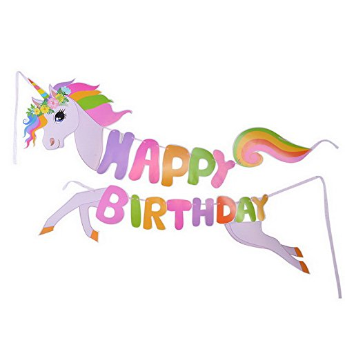 Birthday Party Decoration Balloons Banners Set for Girls Including Birthday Hat Cute Horse Banner Wall Hanging Paper Flower Pull Flag