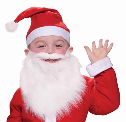 Child Santa Beard and Moustache Christmas Halloween Costume (Halloween Costumes For Guys With Goatees)