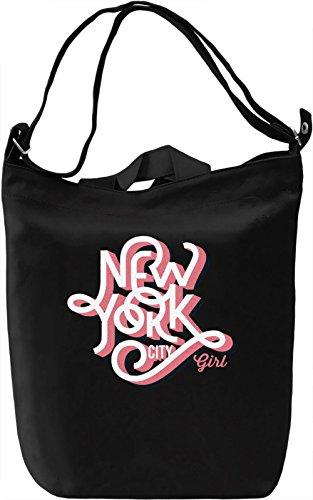 New York city girl Borsa Giornaliera Canvas Canvas Day Bag| 100% Premium Cotton Canvas| DTG Printing|