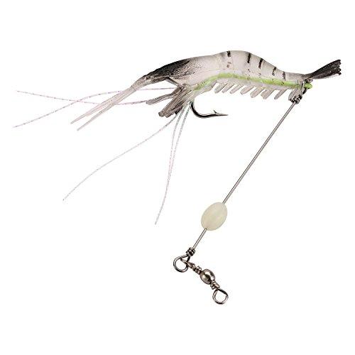 Zide 12PCS Soft Bait Lifelike Shrimp with Bait Fishing Lure (White)