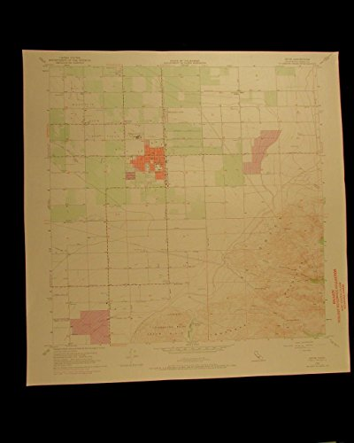Arvin California vintage 1970 original USGS Topographical - Map Arvin