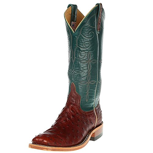 Anderson Bean Womens Brandy Lux Full Quill Turquoise Calfieno Cowboy Boot 8.5 B Brown (Anderson Women Boots Bean)