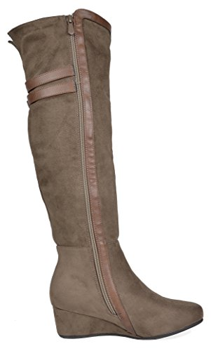 cea718be5f1 DREAM PAIRS Women s Over The Knee Thigh High Stretch Boots