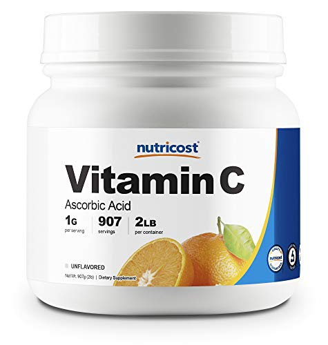 Nutricost Pure Ascorbic Acid Powder (Vitamin C) 2 LBS – High Quality, Gluten Free, Non-GMO